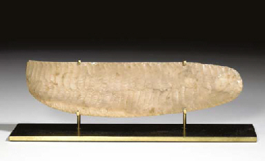 AN EGYPTIAN FLINT SERRATED KNI