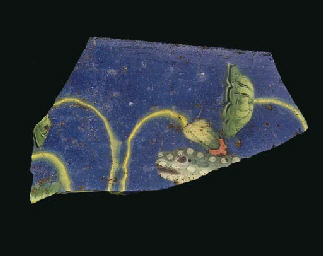 A ROMAN MOSAIC GLASS FRAGMENT