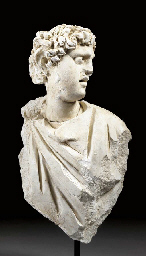 A PALMYRENE STUCCO DRAPED BUST