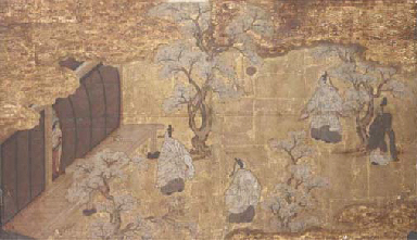 A Japanese painting, 17th cent