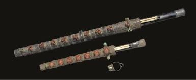 A Mongolian sword and a dagger