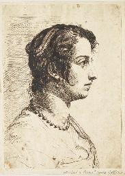 Portrait d'une femme en buste