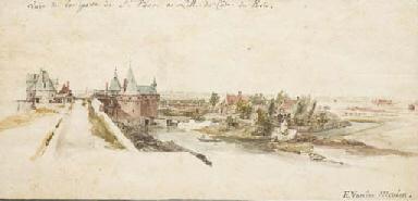 Une vue de la porte Saint-Pier