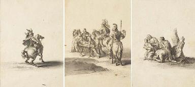 Sept dessins tirés des tableau