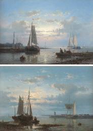 Fishing Boats on an Estuary; a