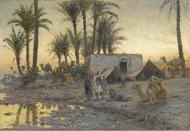 A Bedouin Camp at Gerzereh aft