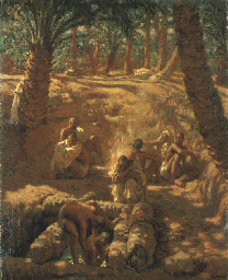 Berbers at an Oasis Well