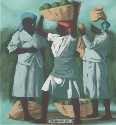 Femmes allant au marché