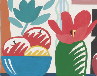 Study for fruit bowl and tulip