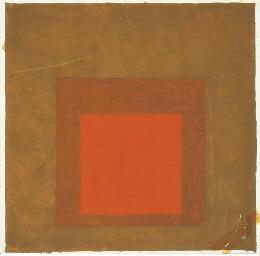 Homage to the square (orange,