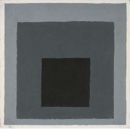 Homage to the square (black, g