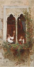 On a Venetian balcony