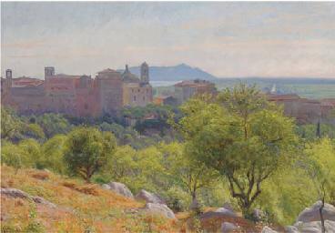 An Italian hilltop town