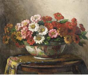 Summer flowers in an oriental