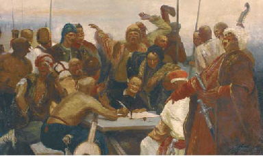 Cossacks writing a letter to t