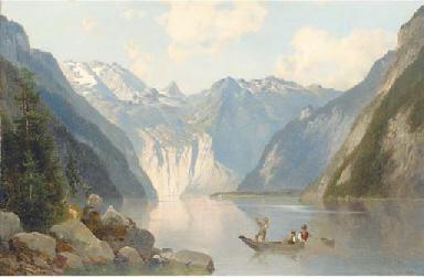 A mountainous Swiss lake lands