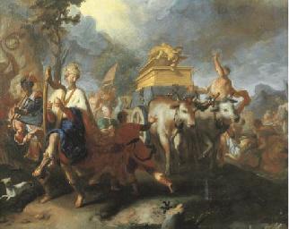 David danza dinanzi l'arca del