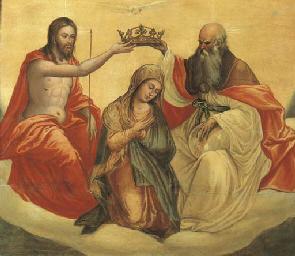 La Vergine incoronata dalla Sa