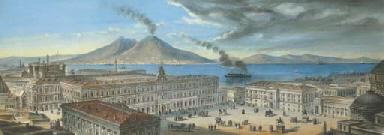 Napoli, Piazza Castello con il