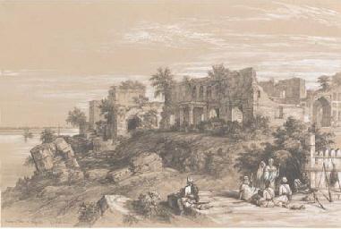 Ruins of a palace at Rajmahal,
