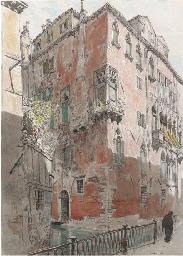 Study of a palazzo, Venice