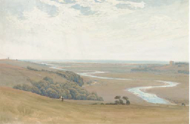 On the Sussex Downs, above Lan