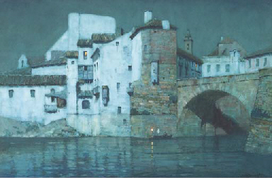 A Spanish riverside town by mo