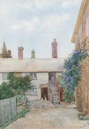 Children at the cottage door