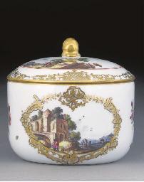 A Meissen circular sugar-bowl