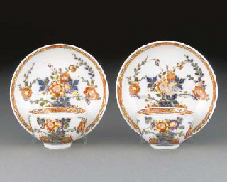 A pair of Meissen teabowls and