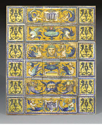 A Continental maiolica tile-pa
