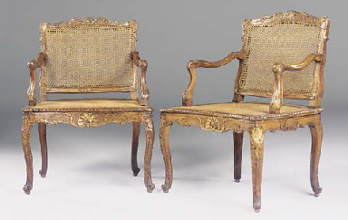 A PAIR OF EARLY LOUIS XV BEECH