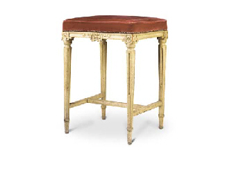 A LOUIS XVI GREY-PAINTED TALL