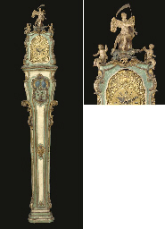 A SOUTH GERMAN PARCEL-GILT AND