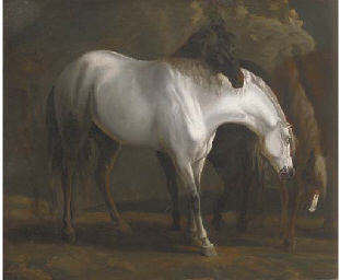Mares in a landscape
