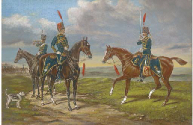 Hussars on manoeuvres
