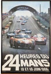 Le Mans 1966 - A colour poster
