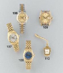 Rolex: A ladys 18ct. gold self
