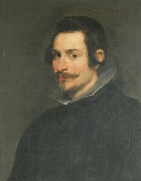 Portrait d'homme à la fraise