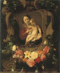 Vierge à l'enfant dans une cou