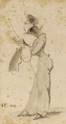 Caricature d'Eugène-Louis Lami