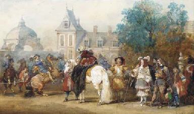 L'arrivée de Louis XIV au chât