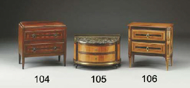 COMMODE IN MINIATURA IN NOCE,