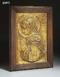 Two Plaster Figural Panels