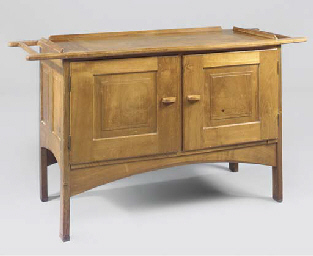 A WALNUT SERVING TABLE