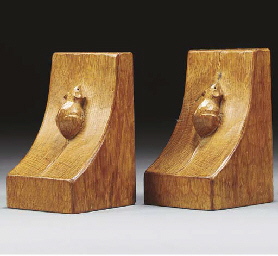 A Pair of Oak Bookends
