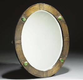 A Copper Oval Mirror