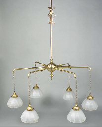 A Brass and Copper Chandelier