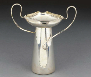 A Silver Twin-Handled Vase