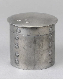 A Tudric Pewter Powder Pot and